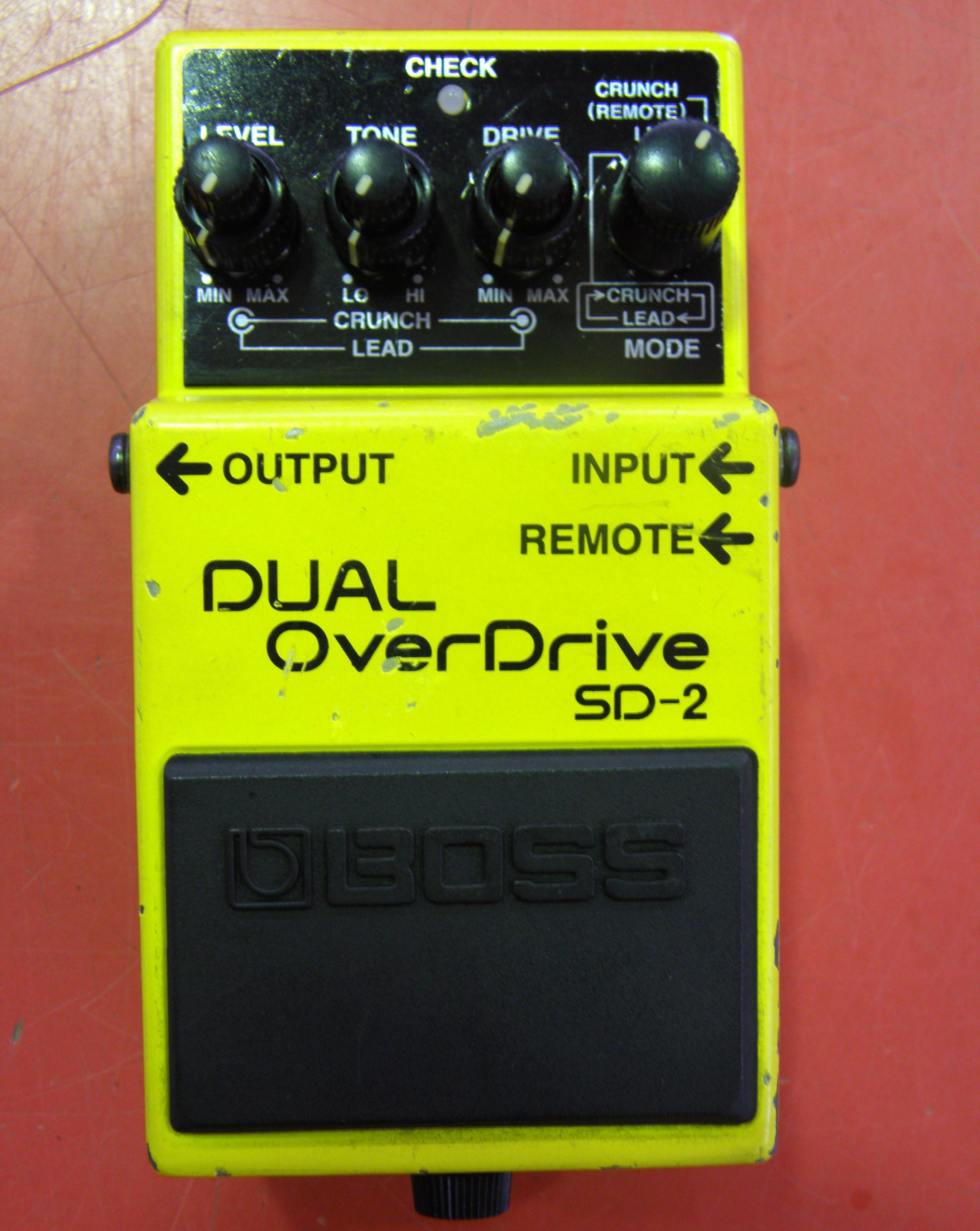 BOSS エフェクター SD-2 デュアル・オーバー・ドライブ