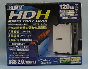I・O DATA 外付けHDD HDH-U120