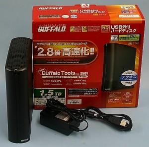 BUFFALO 外付けHDD HD-CB1.5TU2