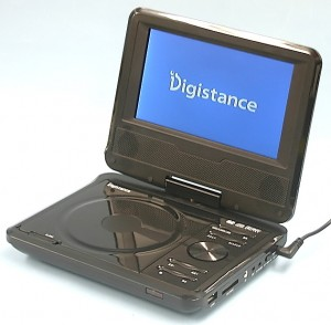 Digistance ポータブルDVDプレーヤー DS-PP709BK