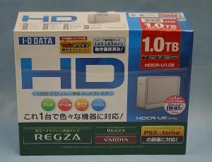 I・O DATA 外付けHDD HDCR-U1.0E