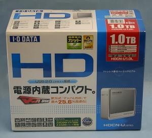 I・O DATA 外付けHDD HDCN-U1.0L