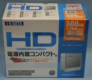 I・O DATA 外付けHDD HDCN-U500