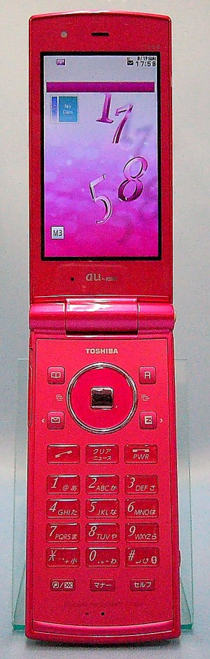 au 東芝 携帯電話 T008