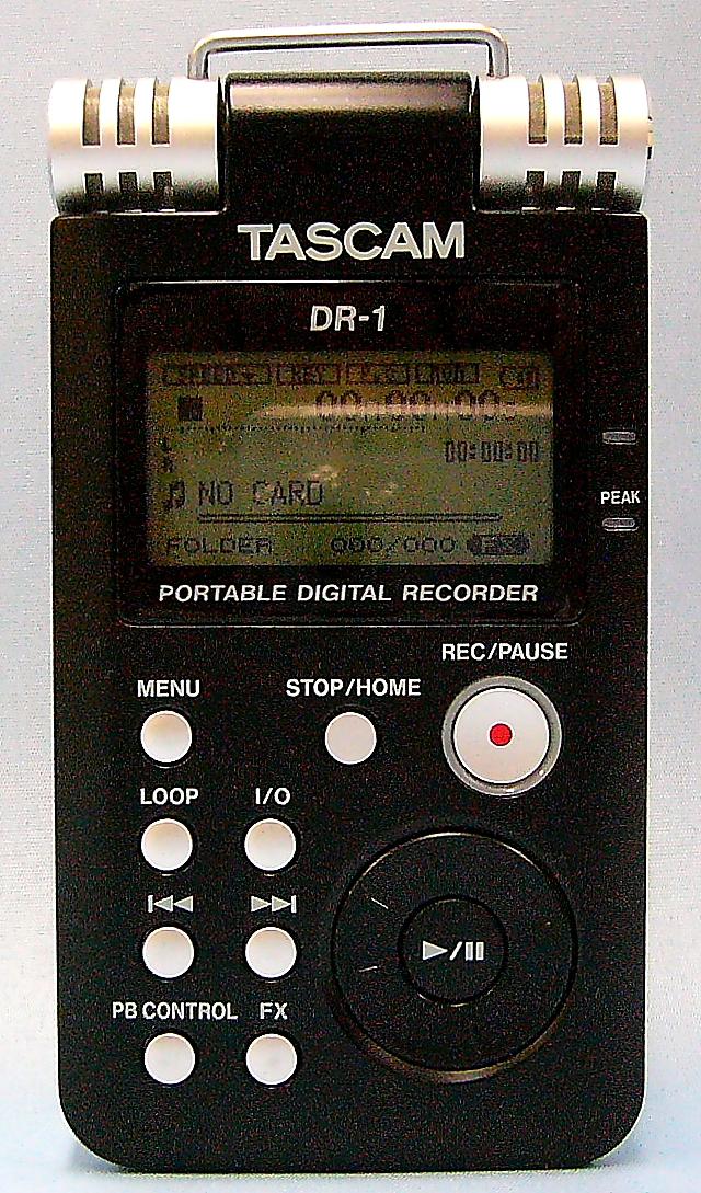 TASCAM ポータブルデジタルレコーダー DR-1