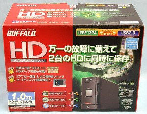 BUFFALO 外付けHDD HD-W1.0TIU2/R1