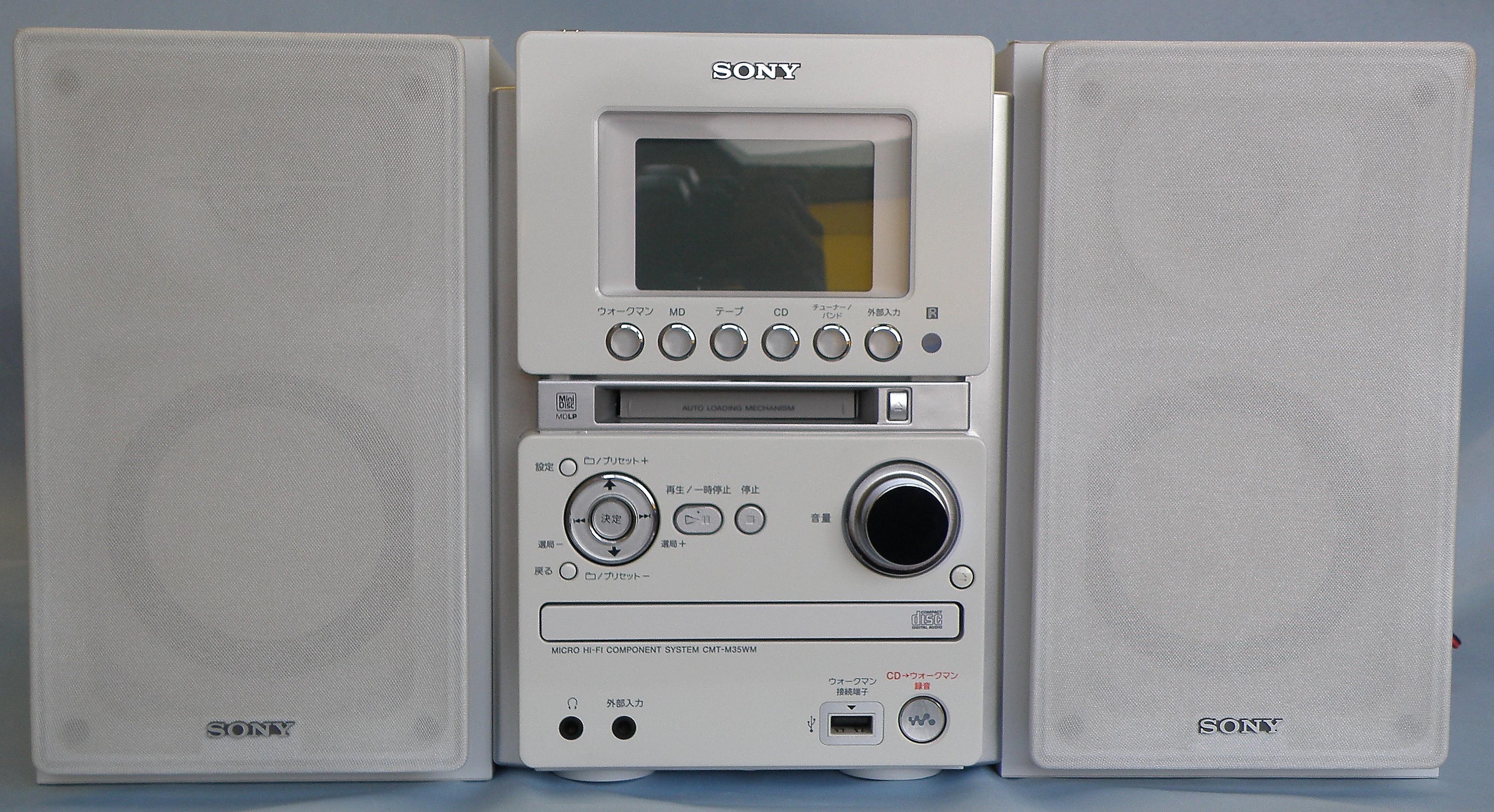 SONY ミニコンポ CMT-M35WM
