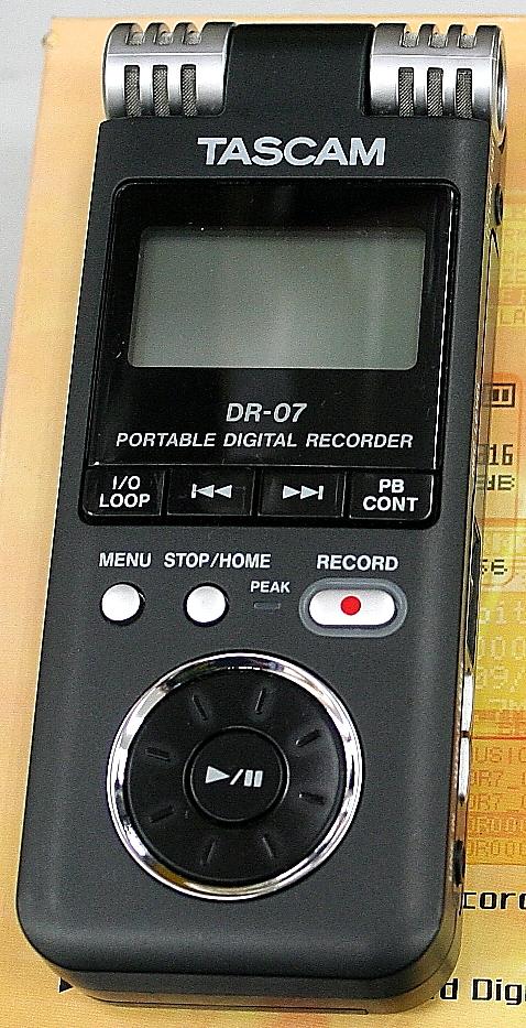 TASCAM デジタルレコーダー DR-07