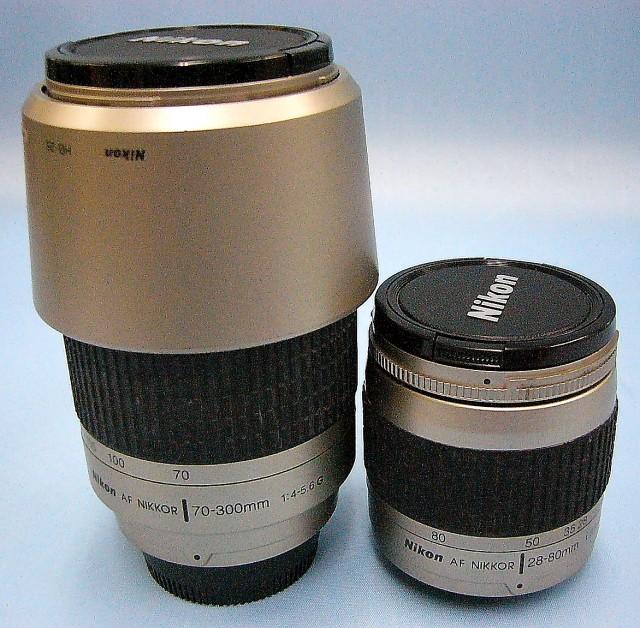 Nikon レンズ AF NIKKOR 28-80mm 1:3.3-5.6G+ 70-300 1:4-5.6G Wズームセット
