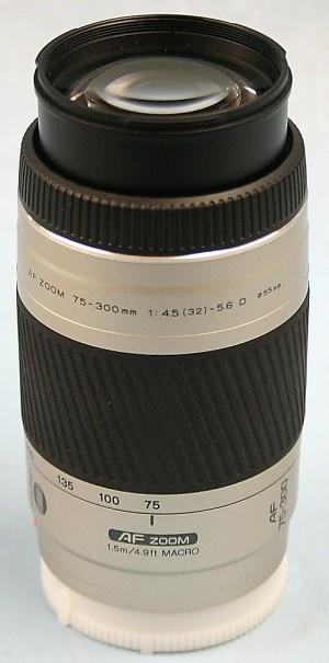 MINOLTA レンズ 75-300 4.5-5.6D