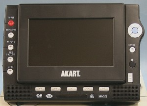 AKART ポータブルDVDプレーヤー AK-PDV700C