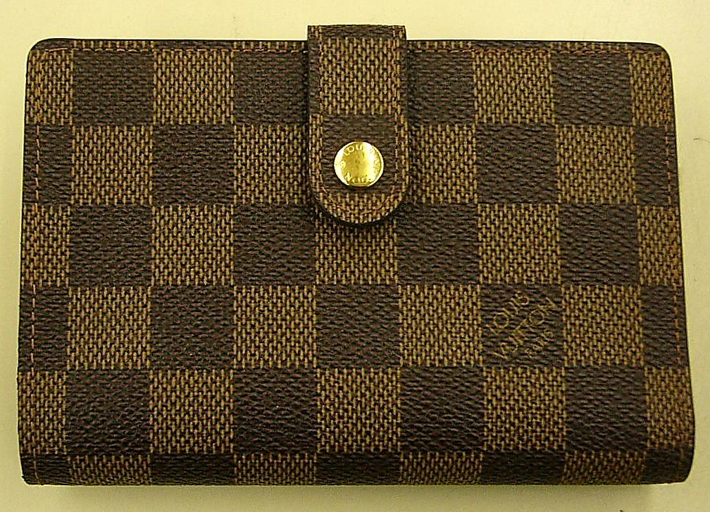 LOUIS VUITTON N61664 ダミエ ポルトモネビエ ヴィエノワ がま口財布