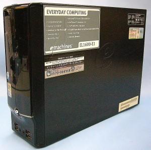 emachines パソコン EL1600-E1