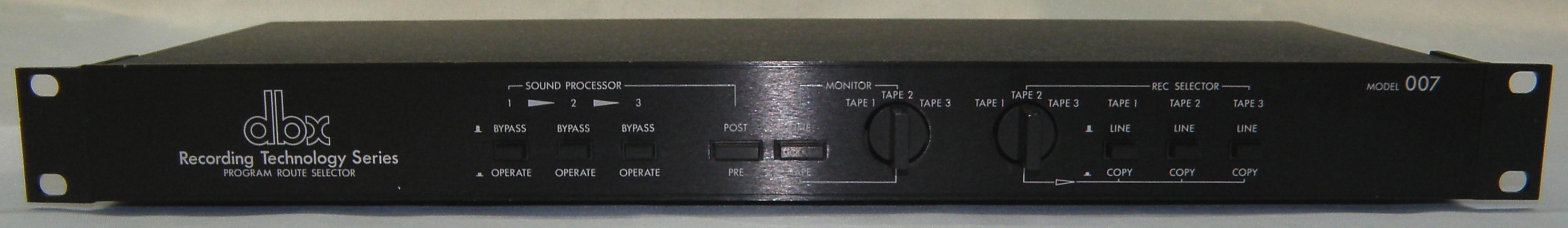 dbx ルートセレクター model 007