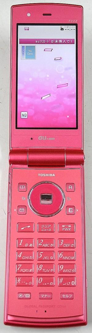 TOSHIBA au 携帯電話 T008