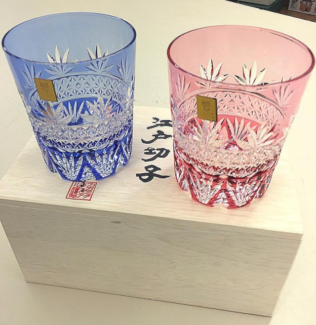 カガミクリスタル 江戸切子 ペアグラス|オフハウス西尾店