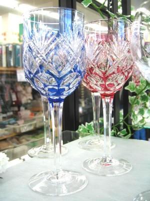 カガミクリスタル 切子ワイングラス| オフハウス三河安城店