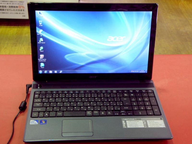 acer ノートパソコン Aspire 5733Z-A22C/F| ハードオフ安城店