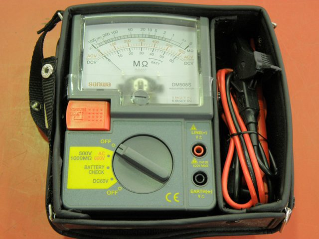 SANWA アナログ絶縁抵抗計 500V PDM508S | ハードオフ安城店