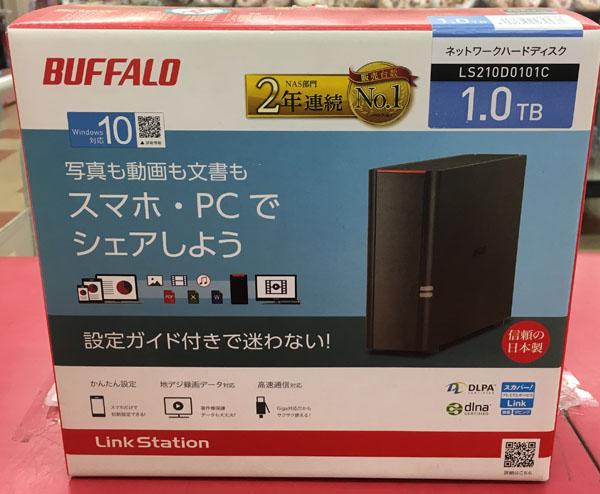 BUFFALO ネットワークハードディスク LS210D0101C 入荷しました| ハードオフ三河安城店