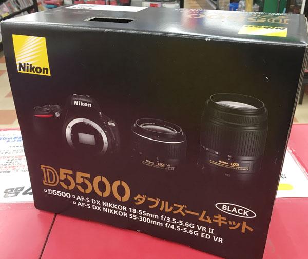 Nikon デジタル一眼 ダブルズームキット D5500入荷しました| ハードオフ三河安城店