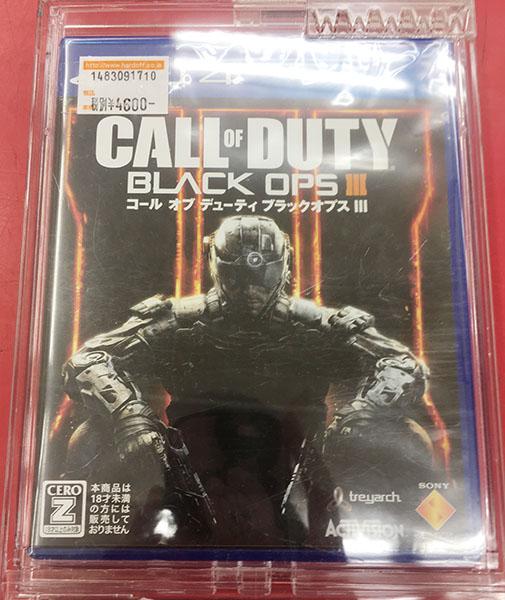 PS4用ゲームソフト CALL OF DUTY BLACK OPSⅢ 買い取りました!| ハードオフ三河安城店