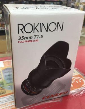ROKINON SONY対応フルフレームレンズ 35mm T1.5 AS IF UMC入荷しました。| ハードオフ三河安城店