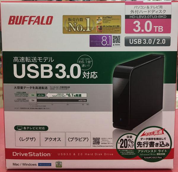BUFFALO 外付けHDD HD-LB3.0TU3-BKD入荷しました| ハードオフ三河安城店