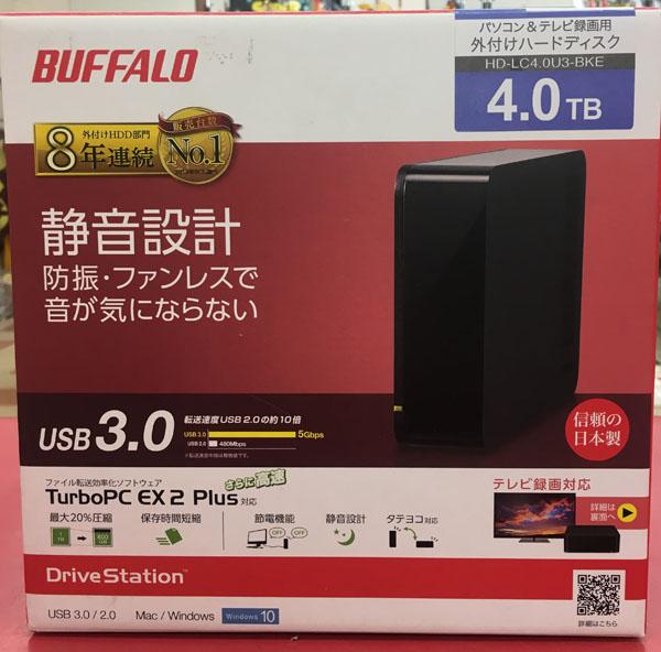 BUFFALO 外付けHDD 4TB HD-LC4.0U3-BKE入荷しました| ハードオフ三河安城店