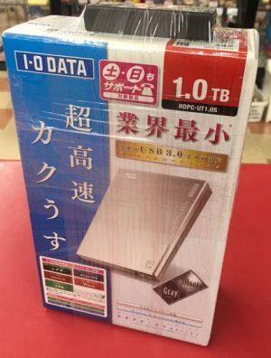 I・O DATA 外付けHDD HDPC-UT1.0S入荷しました| ハードオフ三河安城店