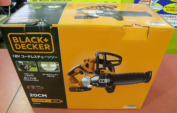 Black&Decker リチウムチェーンソー| ハードオフ安城店