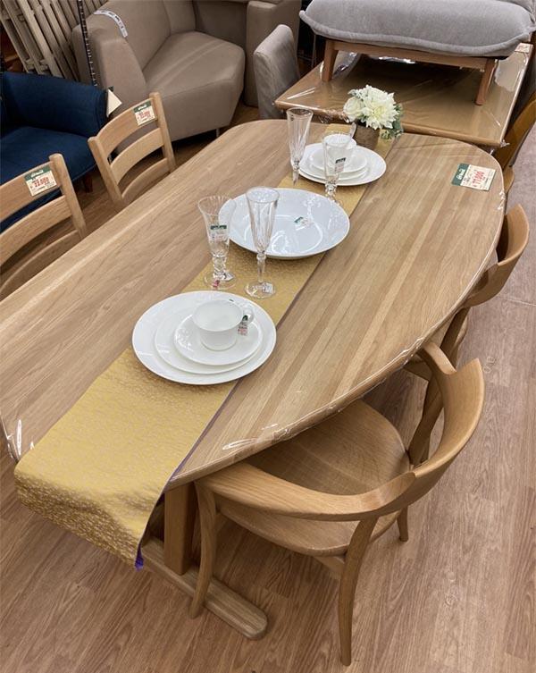 日本製高級家具。飛騨産業のダイニングテーブル| オフハウス西尾店