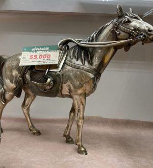 洋銀製の葵紋将馬のインテリア| オフハウス西尾店